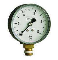 Hydromanometr HY 80 rad,fi80 mm, 0÷1,6 bar, G1/2'' rad, kl. 2,5