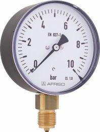 Manometr przemysłowy RF 100 I, D301,fi100 mm, 0÷250 bar, G1/2'' rad, kl. 1,0
