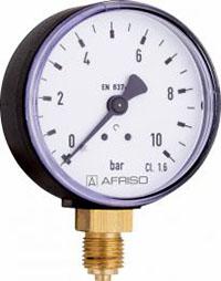 """Manometr przemysłowy RF 100 I, D401,fi100 mm, 0÷250 bar, G1/2"""" rad, kl. 1,0"""