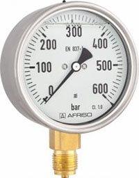 Manometr glicerynowy RF 100 Gly, D801,fi100 mm, -1÷0 bar, G1/2'' rad, kl. 1,0