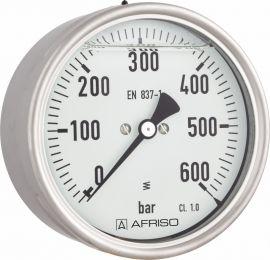 """Manometr glicerynowy RF 100 Gly, D811,fi100 mm, -1÷0 bar, G1/2"""" exc, kl. 1,0"""