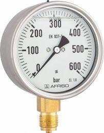 """Manometr glicerynowy RF 160 Gly, D801,fi160 mm, 0÷4 bar, G1/2"""" rad, kl. 1,0"""