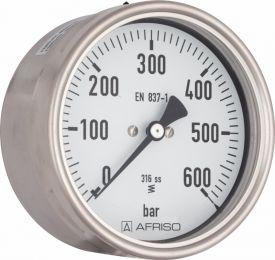 "Manometr chemiczny RF 160 Ch, D412, fi160 mm, 0÷0,6 bar, G1/2"", exc, kl. 1,0"