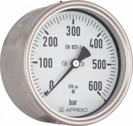 "Manometr chemiczny RF 160 Ch, D412,fi160 mm, 0÷1,6 bar, G1/2"" exc, kl. 1,0"