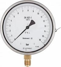 Manometr precyzyjny RF 160 ChF, D402,fi160 mm, -1÷0 bar, G1/2'' rad, kl. 0,6