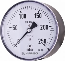 "Manometr puszkowy KP 160, D411,fi160 mm, -16÷0 mbar, G1/2"" ax, kl. 1,6"