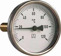 Termometr bimetaliczny BiTh 80,fi80 mm, -20÷60°C, L 100 mm, G1/2'' ax, kl. 2