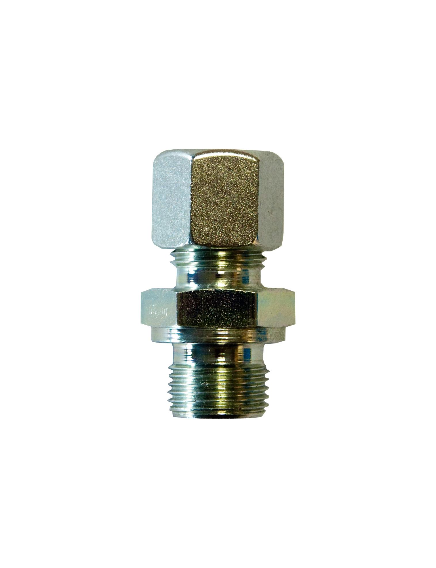 """Złączka zaciskowa, G3/8"""" x śrubunek dla rury fi12 mm, L 46 mm"""