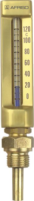 """Termometr maszynowy VMTh 200, 200 x 36 mm, 0÷60°C, L 160 mm, G1/2"""", prosty"""