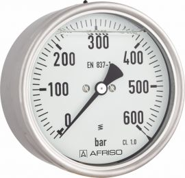 """Manometr glicerynowy RF 160 Gly, D811,fi160 mm, 0÷0,6 bar, G1/2"""" exc, kl. 1,0"""