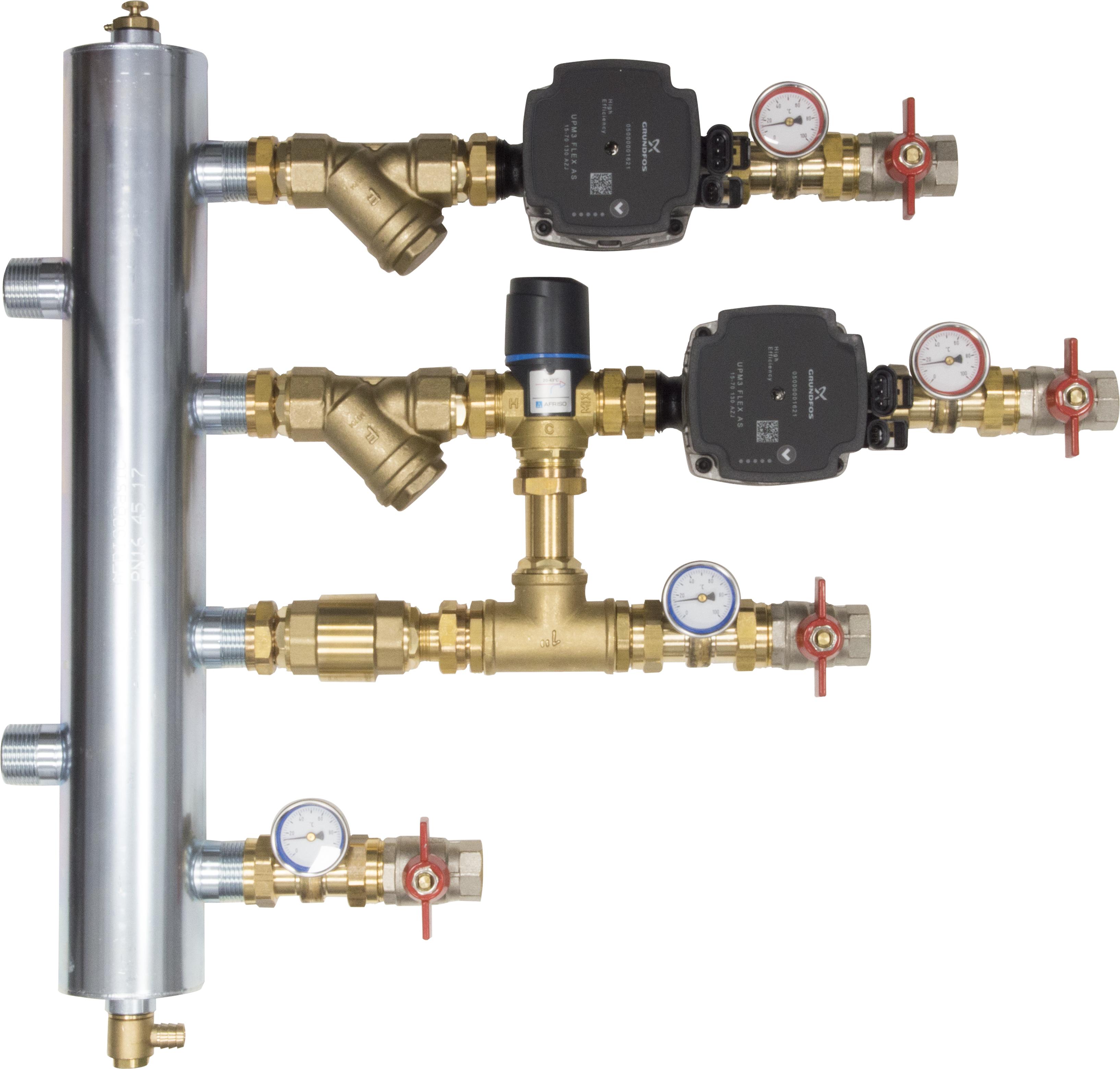 WYCOFANY Z OFERTY - Zestaw mieszający ze sprzęgłem hydraulicznym BPS, człon bez mieszania i z zaworem termostatycznym ATM 561