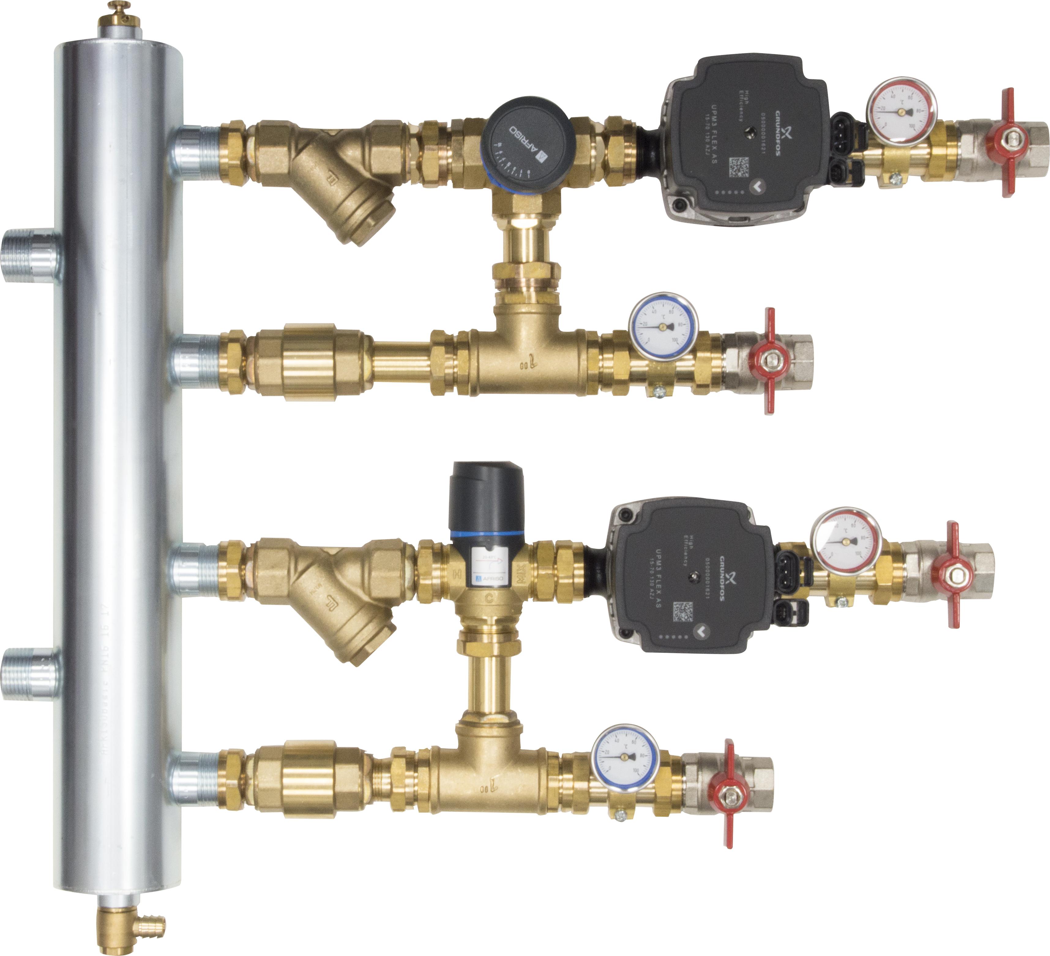 WYCOFANY Z OFERTY - Zestaw mieszający ze sprzęgłem hydraulicznym BPS, człon z zaworem obrotowym ARV 362 i termostatycznym ATM 561
