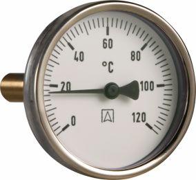 Termometr bimetaliczny BiTh 63,fi63 mm, 0÷120°C, L 40 mm, G1/2'' ax, kl. 2