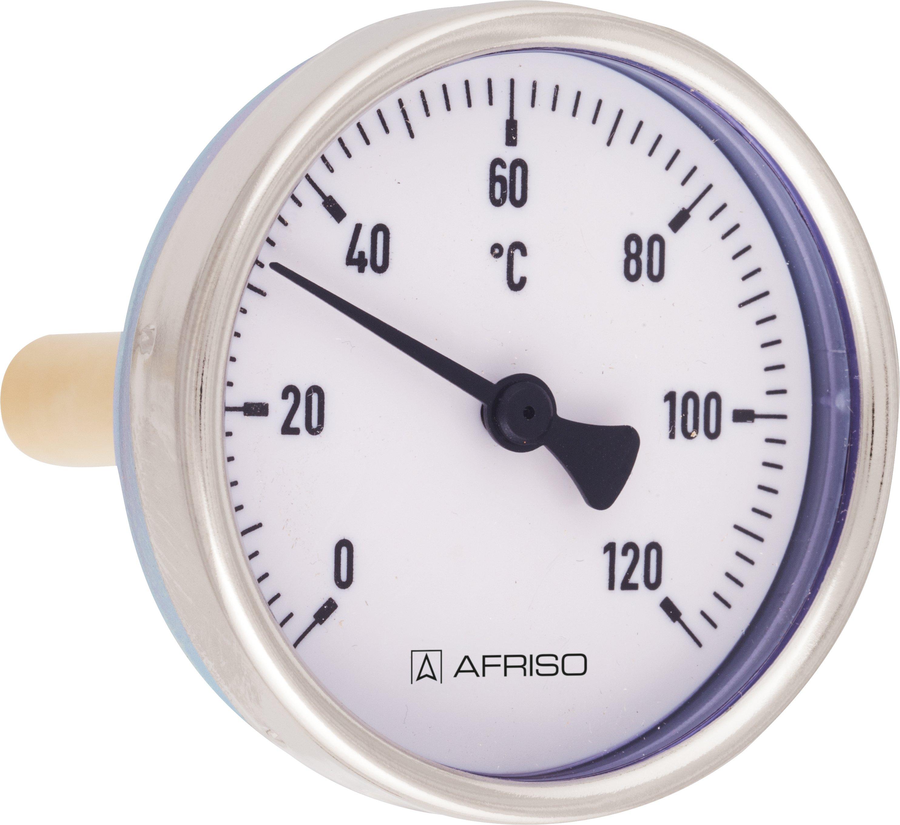 Termometr bimetaliczny BiTh 100 E, D312, fi100 mm, -20÷60°C, L 63 mm, ax, kl. 1