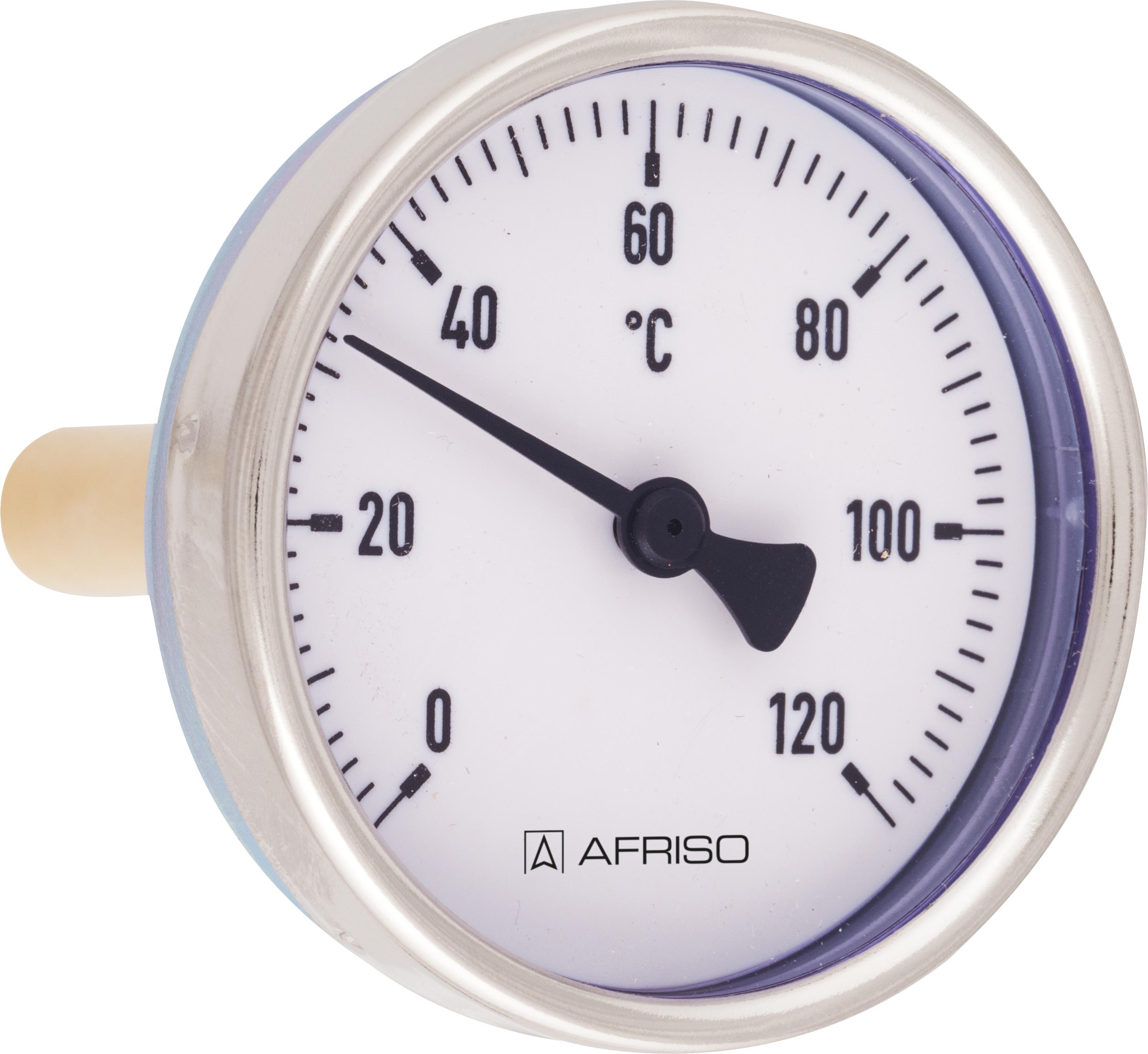 Termometr bimetaliczny BiTh 100 E, D302, fi100 mm, 0÷60°C, L 100 mm, rad, kl. 1