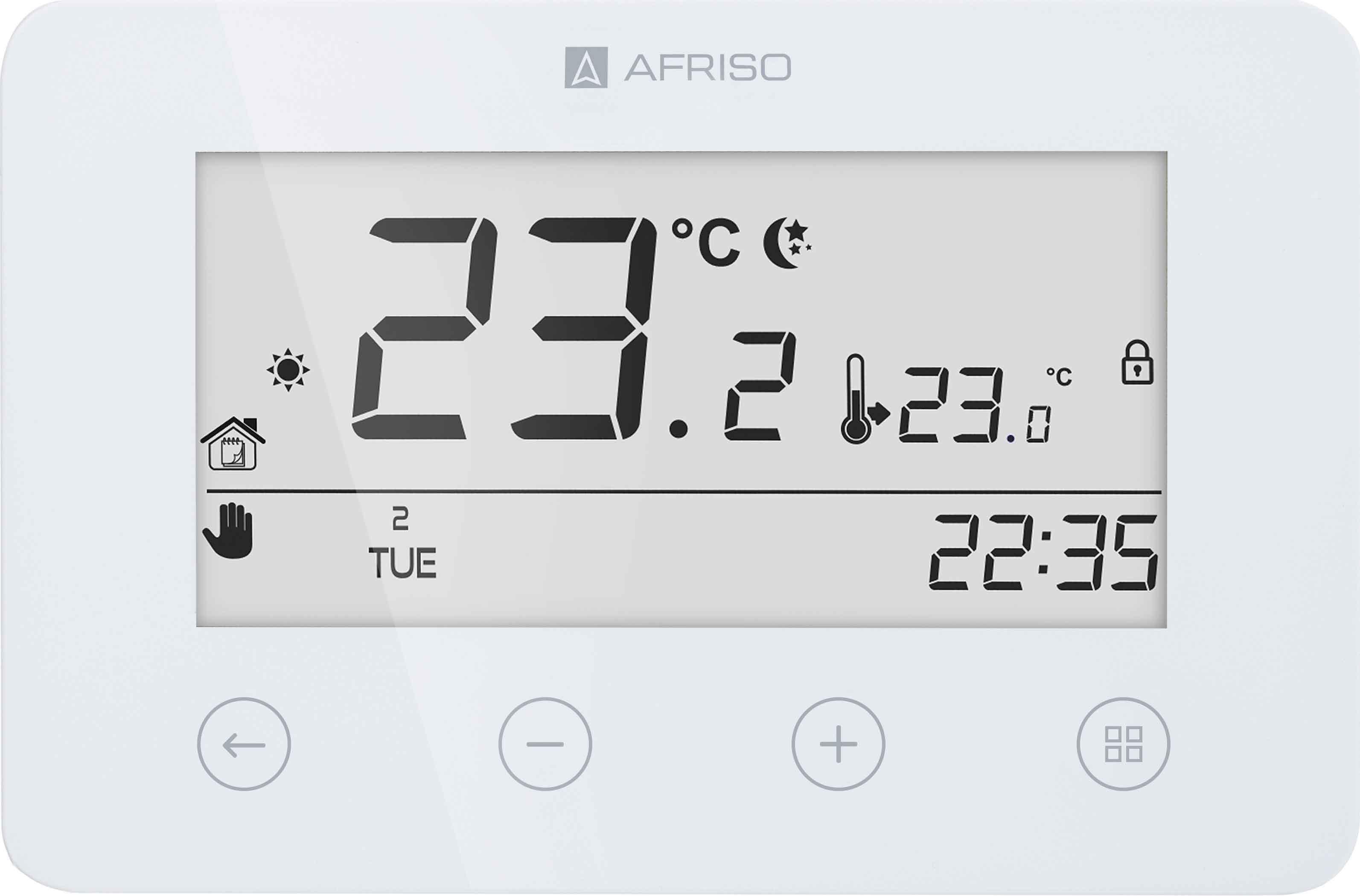 Programowalny termostat pokojowy FloorControl RT05 D-BAT do listwy WB01 D-8-24 lub 230, bateryjny
